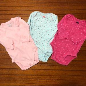 Carters Girls Long Sleeve Onesie Bundle 3 Month